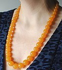 Natural Baltic Yellow Amber Butterscotch Bead Necklace Vintage