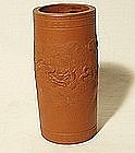 Japanese Tocomane Scholar�s Brush Pot with Dragon