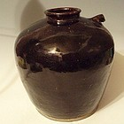 Chinese Stoneware Wine Jug Pot, Late Qing Dynasty