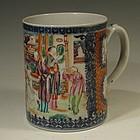 Exceptional Mandarin Export Mug, Chinese Circa 1780