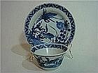 Kangxi to Yongzheng  Tea Bowl and Saucer with Cranes