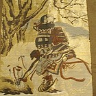 Man�s Japanese Haori with Samurai Warrior, Signed