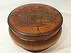 Japanese Fruit Wood Box, early Taisho