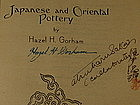 1st Ed, Japanese and Oriental Pottery by Gorham, Signed