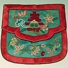 Chinese Silk Waist Pouch with Forbidden Stitch
