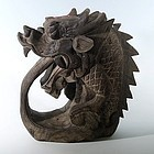 Architectural Chinese Wood Water Dragon Drinking Water