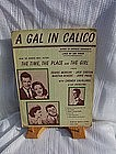 A Gal in Calico Remick Music Corp.