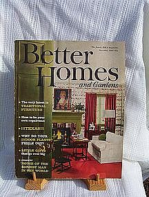 Better Homes and Gardens Magazine Nov 1961