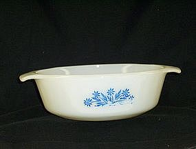 Anchor Hocking Fire King Cornflower Casserole