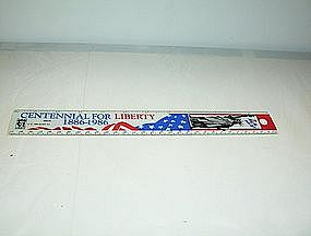"Centennial for Liberty 1886-1986 12"" ruler plastic"