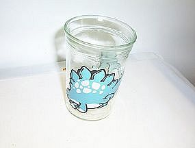 Welch's Jelly Glass Stegosaurus 1988 empty