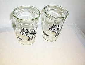 Welch's jelly glass featuring Tom & Jerry 1990 empty