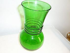 Forest green medium bulb shape vase
