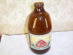 Pearl Beer Bottle (empty) Paper Label