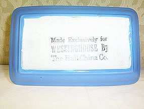 Westinghouse Exlusive Butter Dish by Hall China Co