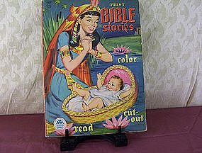 First Bible Stories Color Read Cut-Out Copyright 1954