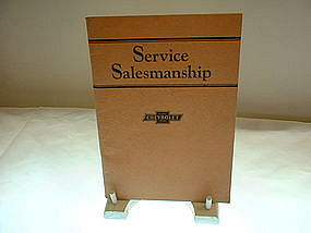 Service Salesmanship Chevrolet  Motor Co. 1928