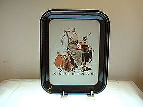 Norman Rockwell Christmas First Edition Tray 1975