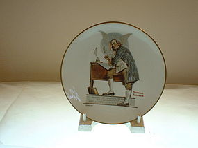 1976 Ben Franklin Collectors Plate Rockwell Limited Ed