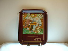 Norman Rockwell lst ed 1975 April Fools Day Tray