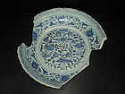 Rare sample Yuan dynasty blue and white large dish
