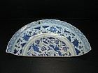 Rare sample of Yuan blue and white dish 42 cm