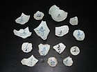 Rare sample of Yuan blue and white calligraphy shards