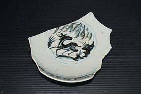 Rare sample of Yuan blue and white deer motif