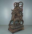 Ming 17th century Chinese bronze of immortal 33cm