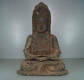 Ming dynasty Chinese Bronze figure of Bodhisattva