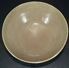 Rare Five dynasties Yue ware carved flower bowl