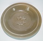 Song - Yuan dynasty longquan celadon large two fish dish 23 cm