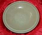 A Ming dynasty longquan celadon large plate 28 cm