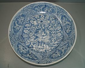Rare late Ming dynasty zhangzhou blue ground dish