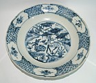 Rare Ming zhangzhou swatow blue and white dish deer motif
