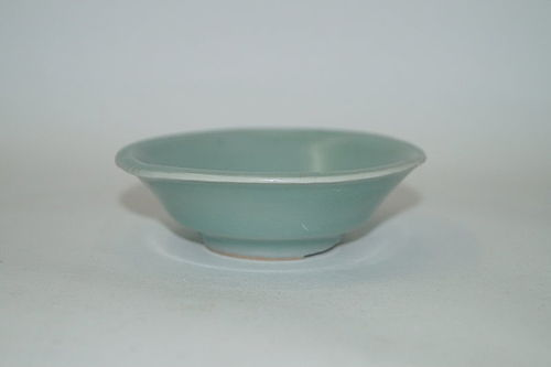 Rare Song dynasty longquan celadon bluish green small washer