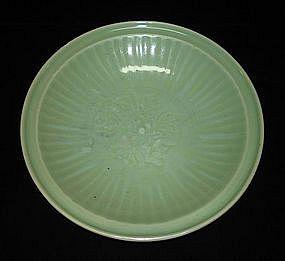 Huge Yuan - Ming Longquan celadon dish