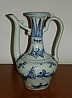 A Ming 15th century interregnum blue and white ewer