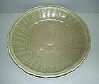 Yuan longquan celadon big dish (40 cm )