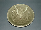 Rare northern Song Yaozhou bowl with duck motif