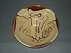 Rare Tang dynasty Changsha bowl with blue motif