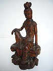 Chinese Boxwood Carving of Guanyin