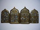19th Century Russian Brass with Enamel Icon