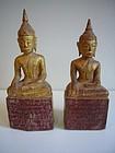 Two Lanna Style Thai Buddhas