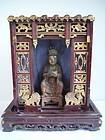 Qing Dynasty House Altar with Daoist Saint