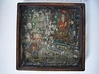 Magnificent Marble and Hongmu Opium Tray