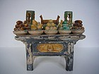 Ming Dynasty Pottery Offering Table