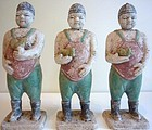 Three Rare Ming Tomb Figures