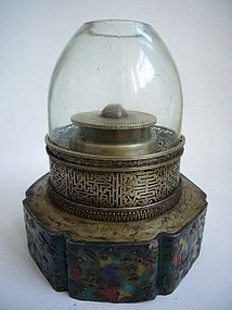 Extremely Big Chinese Opium Lamp Late Qing