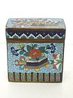 Large Chinese Email Cloisonné Opium Box